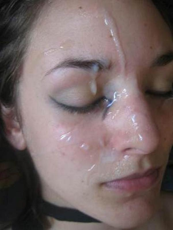First cum on face